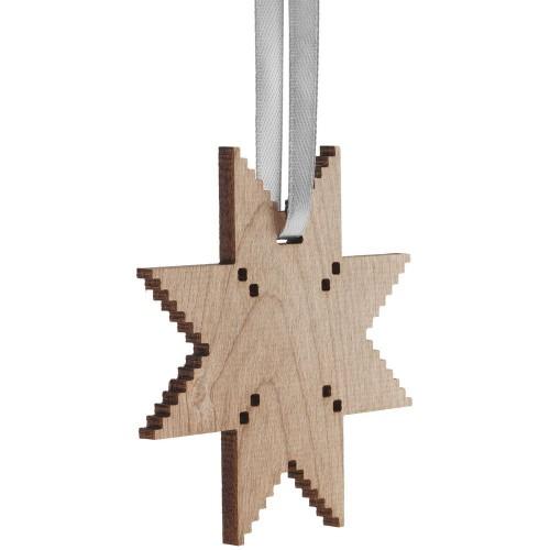 Деревянная подвеска Carving, в форме снежинки