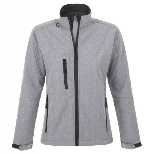 Куртка женская на молнии ROXY 340, серый меланж